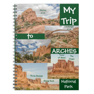 Named Rock Formations in Arches National Park Notebooks