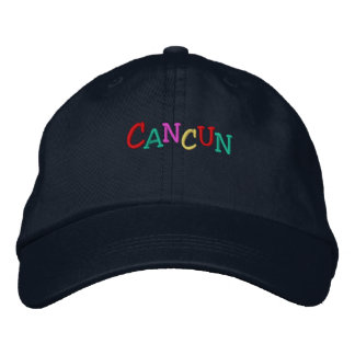 Namedrop Nation_Cancun multi-colored Embroidered Hat