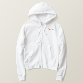 Namedrop Nation_Catalina Multi-colored Embroidered Hoodie