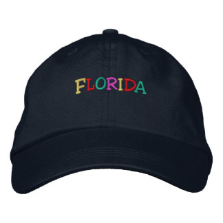 Namedrop Nation_Florida multi-colored Embroidered Hat