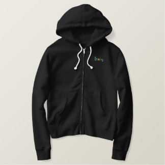 Namedrop Nation_Italy Multi-colored Embroidered Hoodie