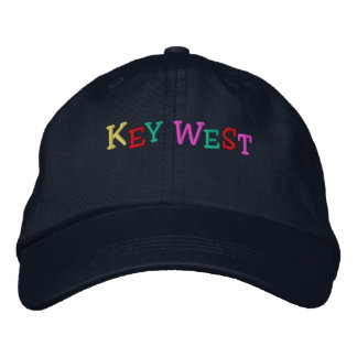 Namedrop Nation_Key West multi-colored Embroidered Hat