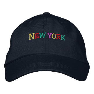 Namedrop Nation_New York multi-colored Embroidered Hat
