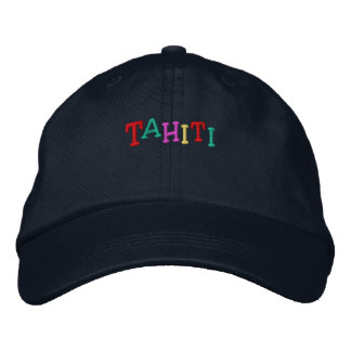 Namedrop Nation_Tahiti multi-colored Embroidered Hat