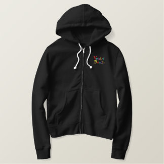 Namedrop Nation_Venice Beach multicolored Embroidered Hoodie