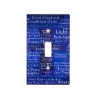 Names and titles of Jesus BLUE CROSS ART Light Switch Cover