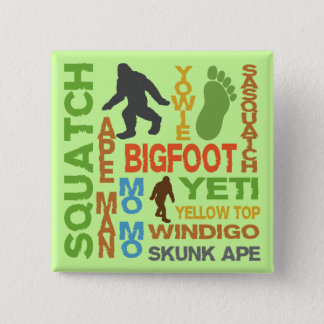 Names For Bigfoot 2 Inch Square Button