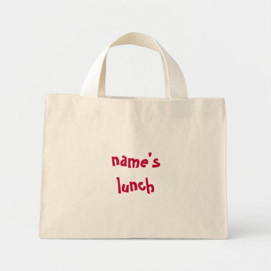 name's lunch - personalize for your little one mini tote bag