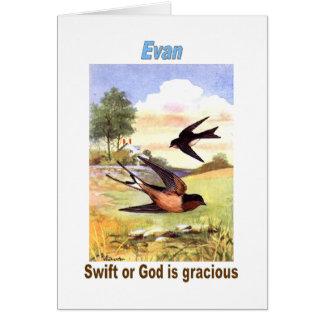 Names&Meanings - Evan Card
