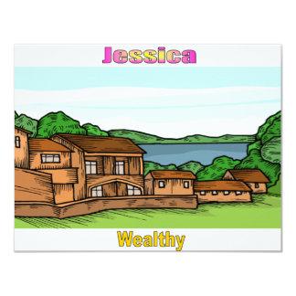 Names&Meanings - Jessica Custom Invitation