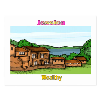 Names&Meanings - Jessica Postcard