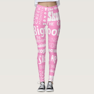 Names of Bigfoot Leggings in Pink