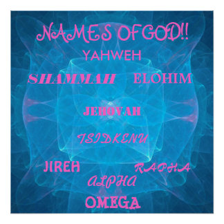 NAMES OF GOD!!... RELIGIOUS POSTER