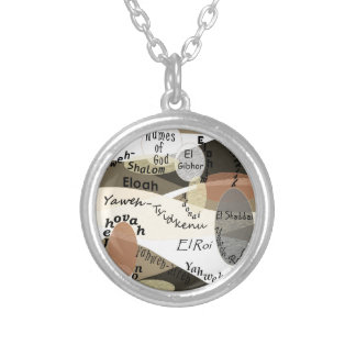 Names of God Silver Plated Necklace