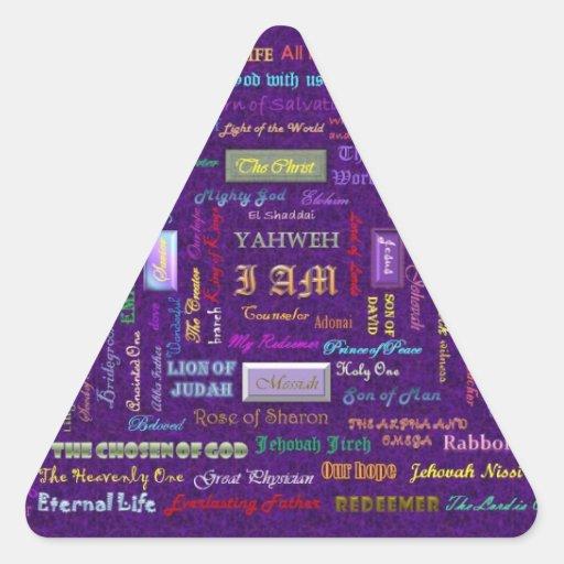 names of God triangle sticker