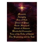 Names of Jesus - Christmas Postcard