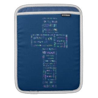 Names of Jesus Cross iPad Sleeve