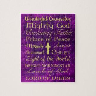 Names of Jesus Purple Puzzle