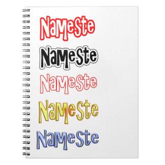 Nameste NAMESTE Hindi Indian  Hello  Bow Notebooks