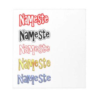 Nameste NAMESTE Hindi Indian  Hello  Bow Notepad