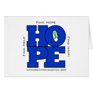 NAMI Greater Houston  HOPE  Note Card