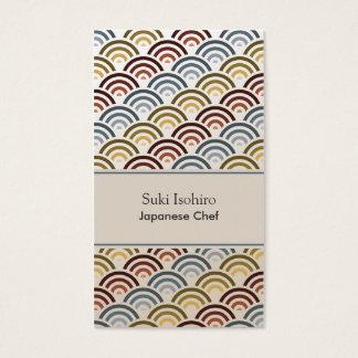 Nami Japanese Asian Weave Pattern Business Card