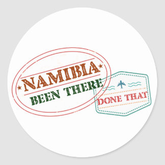 Namibia Been There Done That Classic Round Sticker