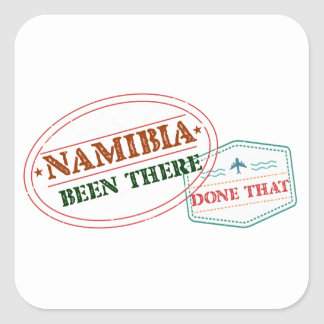 Namibia Been There Done That Square Sticker