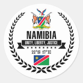 Namibia Classic Round Sticker