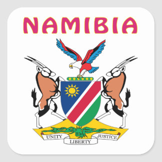 Namibia Coat Of Arms Square Sticker