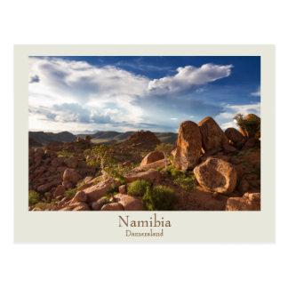 Namibia - Damaraland postcard with text