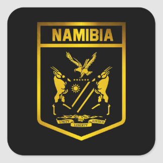 Namibia Emblem Square Sticker