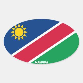 Namibia Euro-Style Oval Sticker