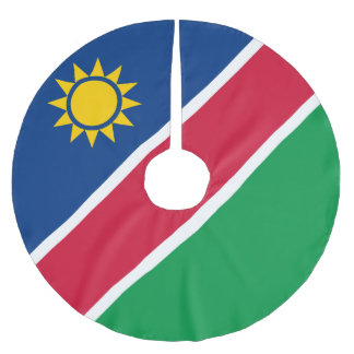 Namibia Flag Brushed Polyester Tree Skirt