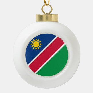 Namibia Flag Ceramic Ball Christmas Ornament
