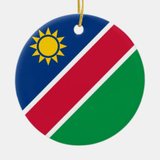 Namibia Flag Ceramic Ornament