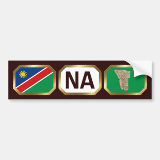 Namibia Flag Map Code Bumper Sticker