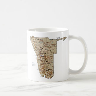 Namibia Flag ~ Map Mug
