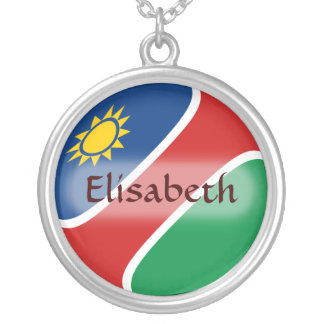 Namibia Flag + Name Necklace