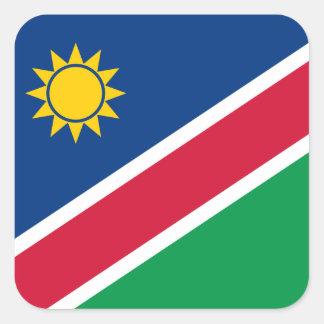 Namibia Flag Square Sticker