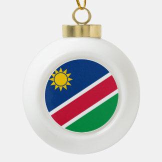 Namibia Flagi Ceramic Ball Christmas Ornament