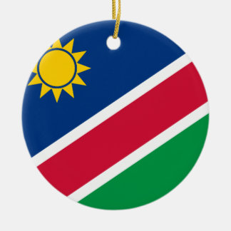 Namibia Flagi Ceramic Ornament
