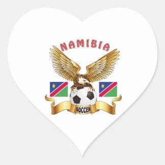 Namibia Football Designs Heart Sticker