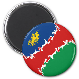 Namibia Gnarly Flag 2 Inch Round Magnet
