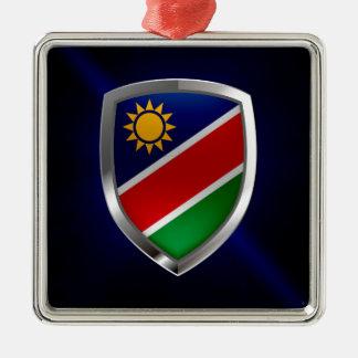 Namibia Metallic Emblem Metal Ornament