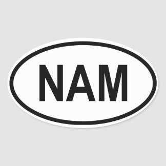 "Namibia ""NAM"" Oval Sticker"