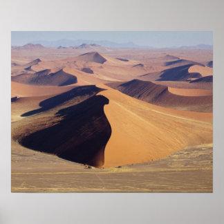 Namibia, Namib-Naukluft Park. Aerial view of Poster