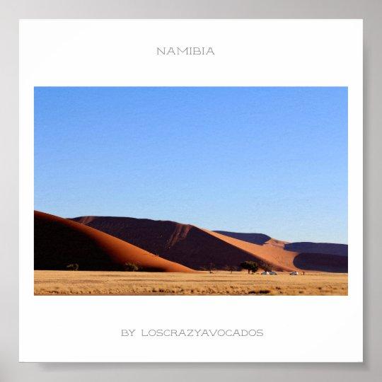 Namibia Sand Dune Panorama View Poster