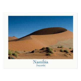 Namibia - Sossusvlei desert postcard with text