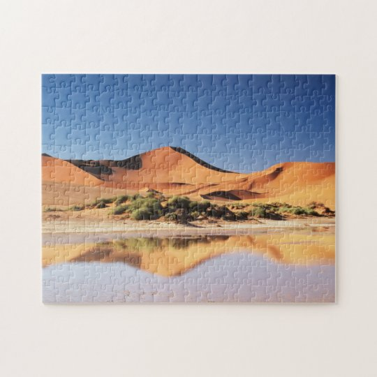 Namibia, Sossusvlei Region, Sand Dunes at desert Jigsaw Puzzle